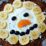Snowman Fruit Pizza