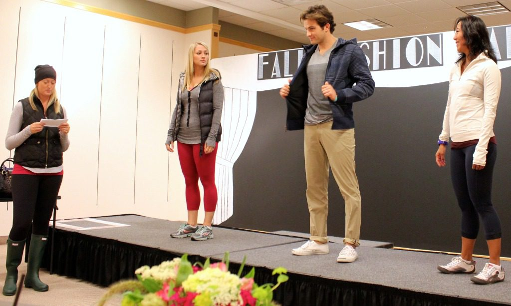 Krystle, Ryan and Mari modeling some fall casual and athletic wear from Lululemon.