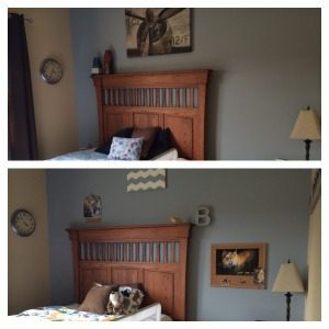 before after wall