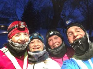 One of our crazier moments as a group when temps fell below zero last winter.