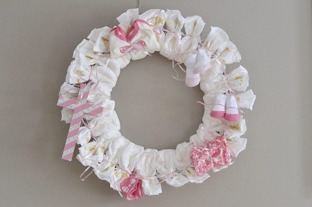 Diaper Wreath Final