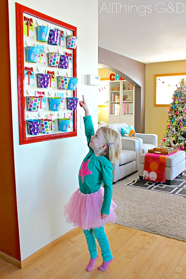 kate age 3 so excited about our christmas countdown advent calendar last year - How Many More Days Until Christmas 2014