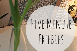 Five minute Freebies