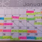 Create a Lasting New Year's Resolution {January Menu Calendar}