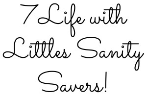7 sanity savers