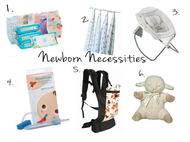 Newborn necessities (what we need to make it through the day!)