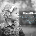 A Note of Thanks: The Day a Stranger Stepped In