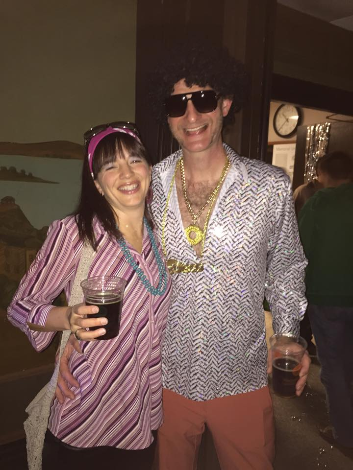 My kids are so disturbed by this picture of us at a Disco Party. But we got out!