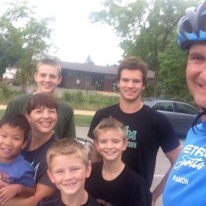 Family bike ride-not quite a date but another rare occurance.