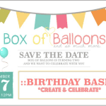 Box of Balloons 2nd Birthday Bash
