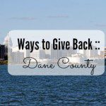 Giving Back in Dane County