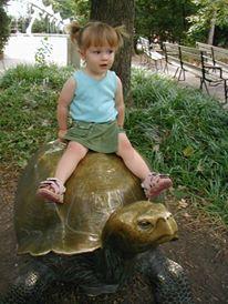 anna on turtle