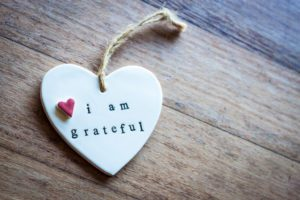 "Heart that says ""I am grateful"""