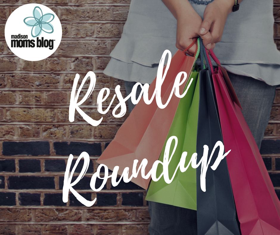 Resale Roundup Graphic with Madison Moms Blog Logo