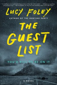 """book cover """"The Guest List"""""""